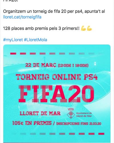 Torneo online ayuntamientos